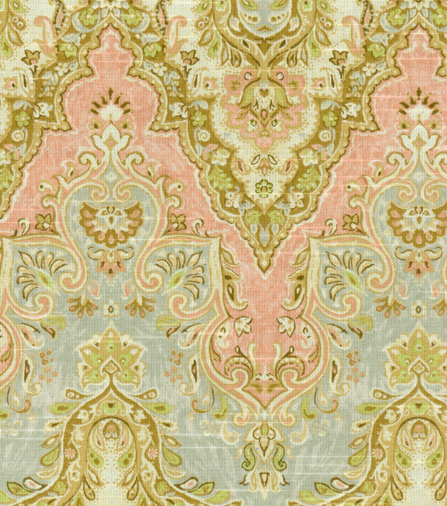 "Waverly Print Fabric 54""-Palace Sari/Rosewater"