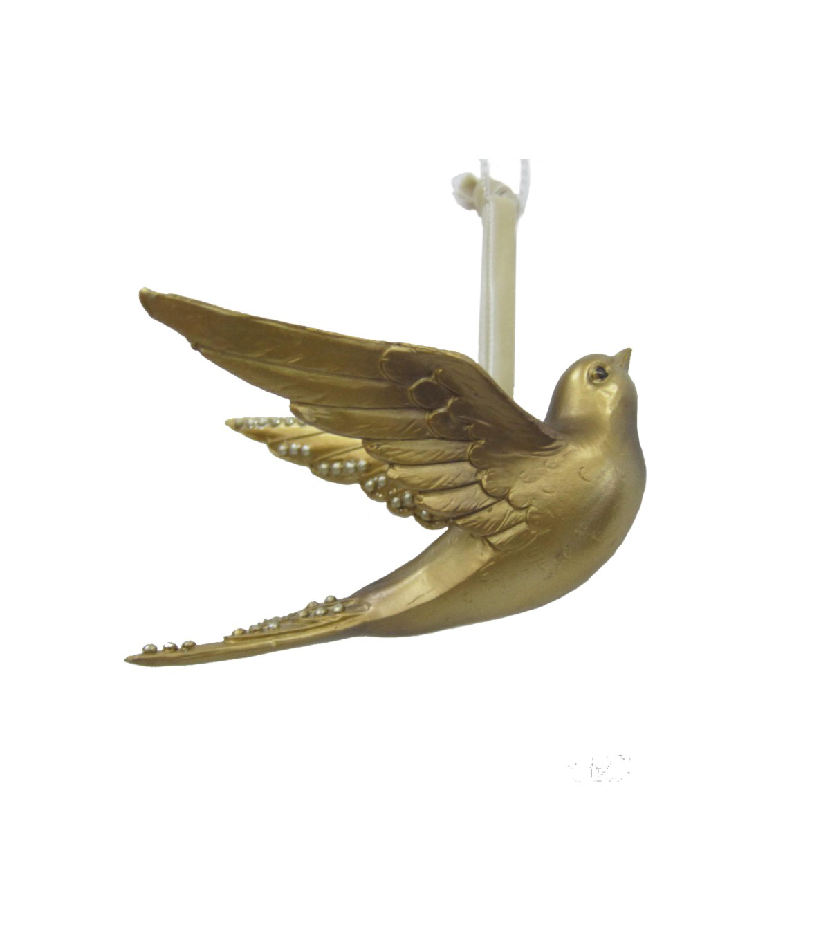 Maker's Holiday Christmas Glistening Pines Flying Bird Ornament-Gold