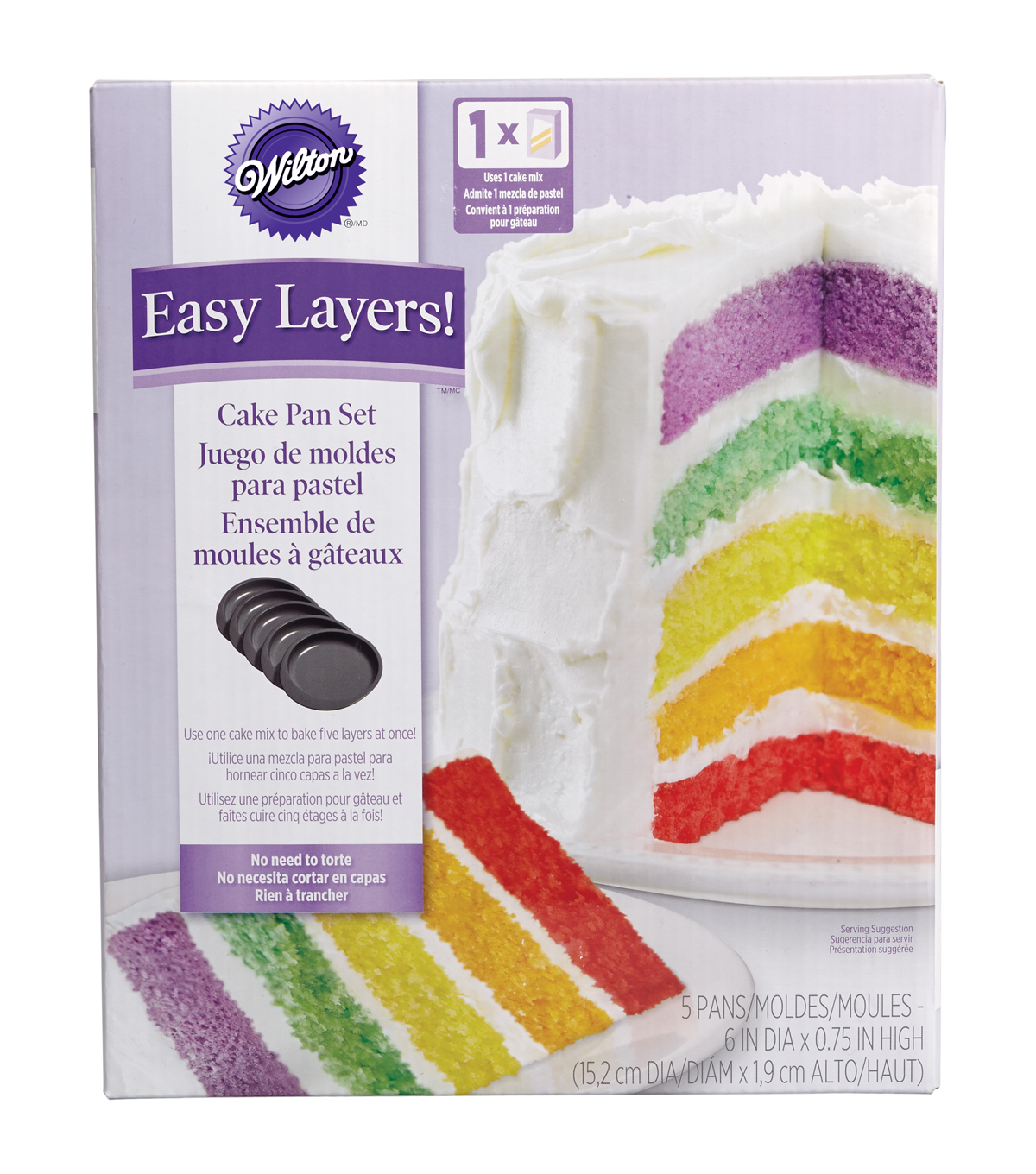 Wilton® Easy Layers! Cake Pan Set 5/Pkg-6\u0022