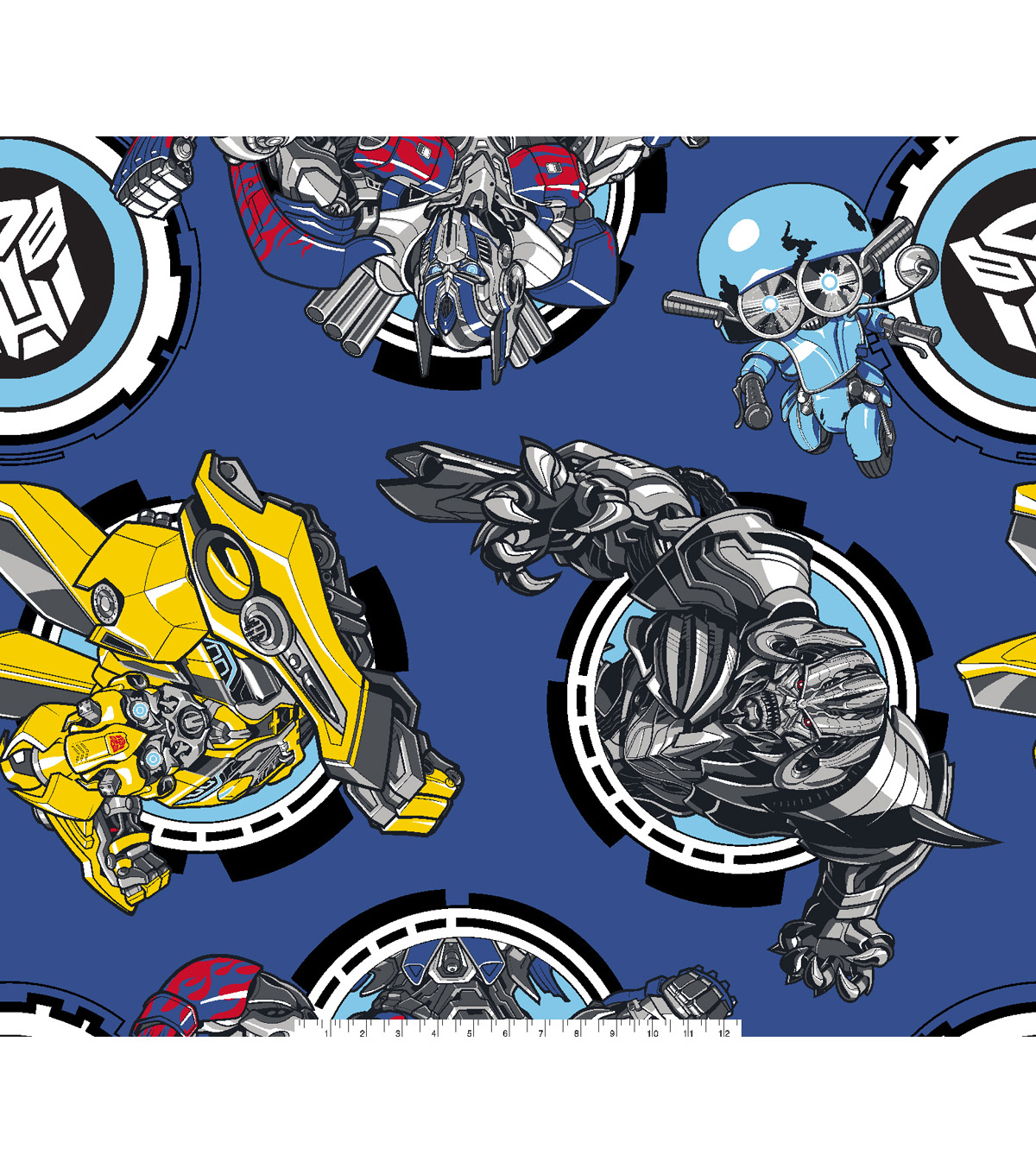 Transformers Movie Fleece Fabric 59\u0027\u0027-Autobots Vs Megatron