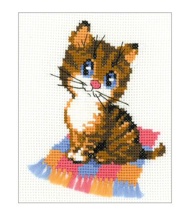 Riolis 6\u0027\u0027x7\u0027\u0027 Counted Cross Stitch Kit-Kitten