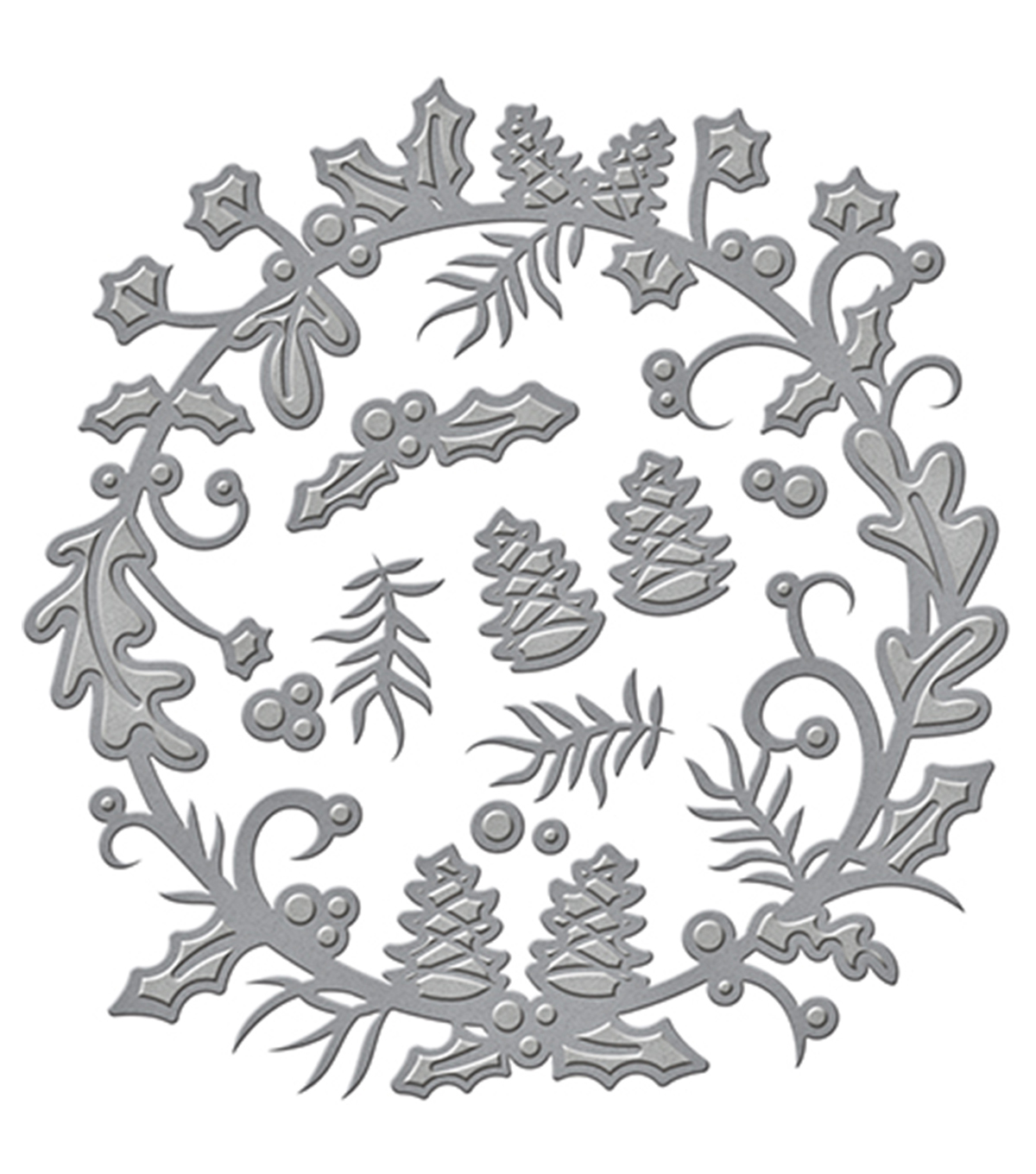 Spellbinders™ Shapeabilities™ Etched Die-Holly Berry Wreath