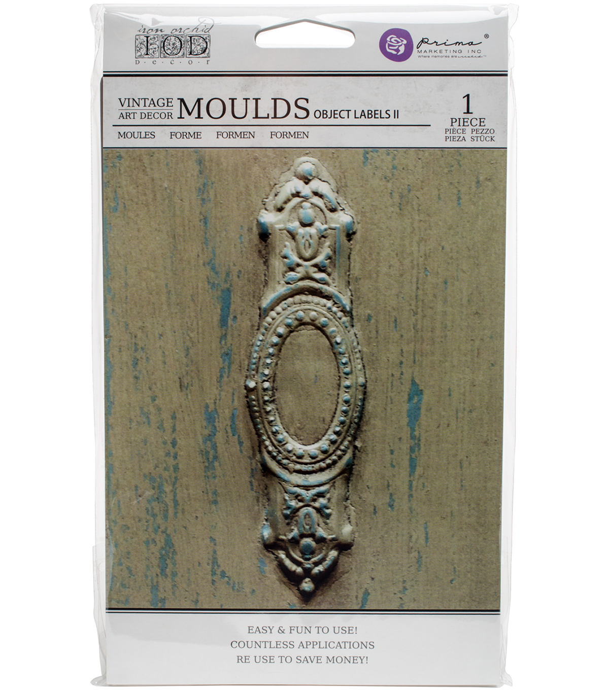 Iron Orchid Designs Vintage Art Decor Mould 5\u0022X8\u0022-Object Labels #2