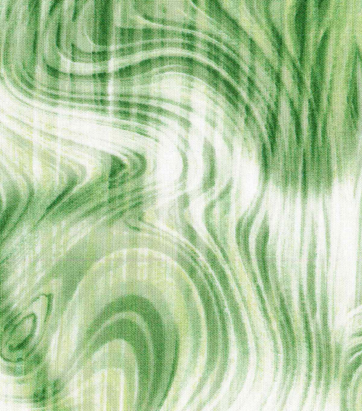 "Modern Cotton Fabric 43""-Green Tonal Oil Slick"
