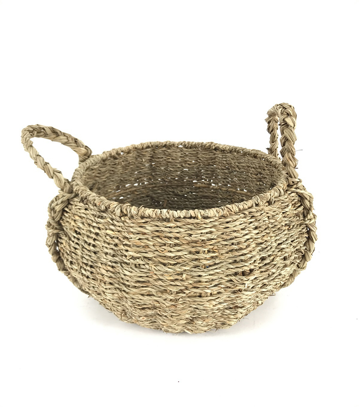 Idea Market Hand-Done Medium Seagrass Basket-Natural