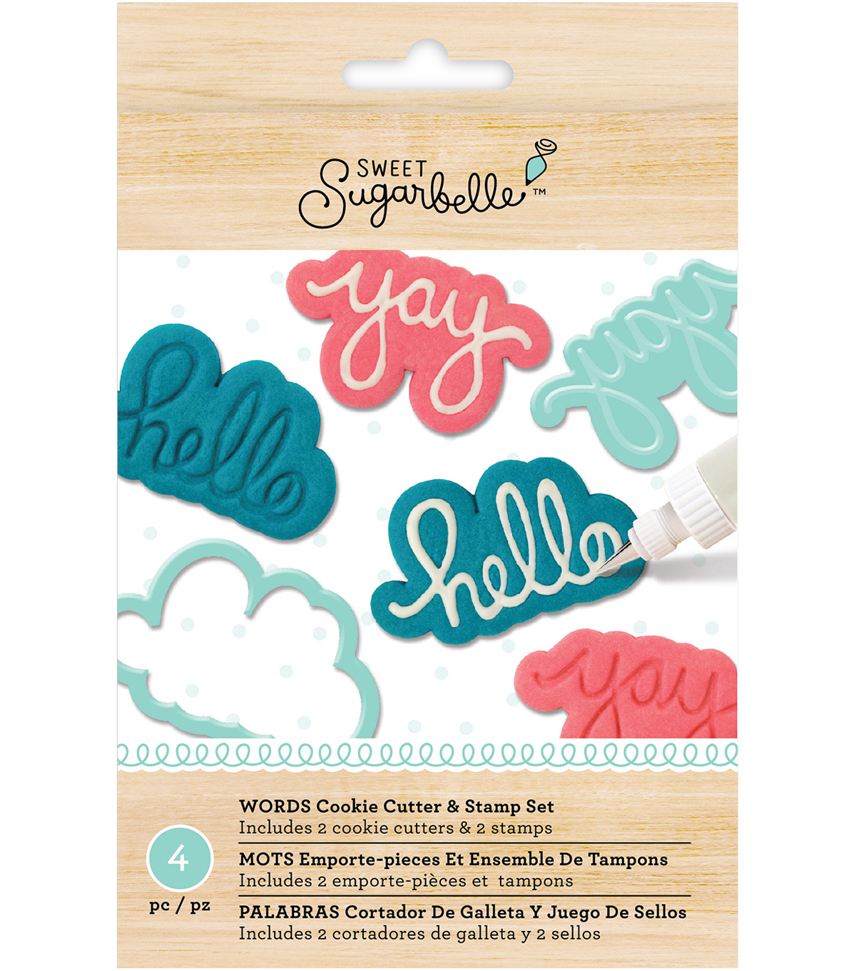 Sweet Sugarbelle Specialty Cookie Cutter & Stamp Set-Words