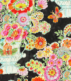 Dena Home Print Fabric 54\u0022-Blissful Bouquet/Licorice
