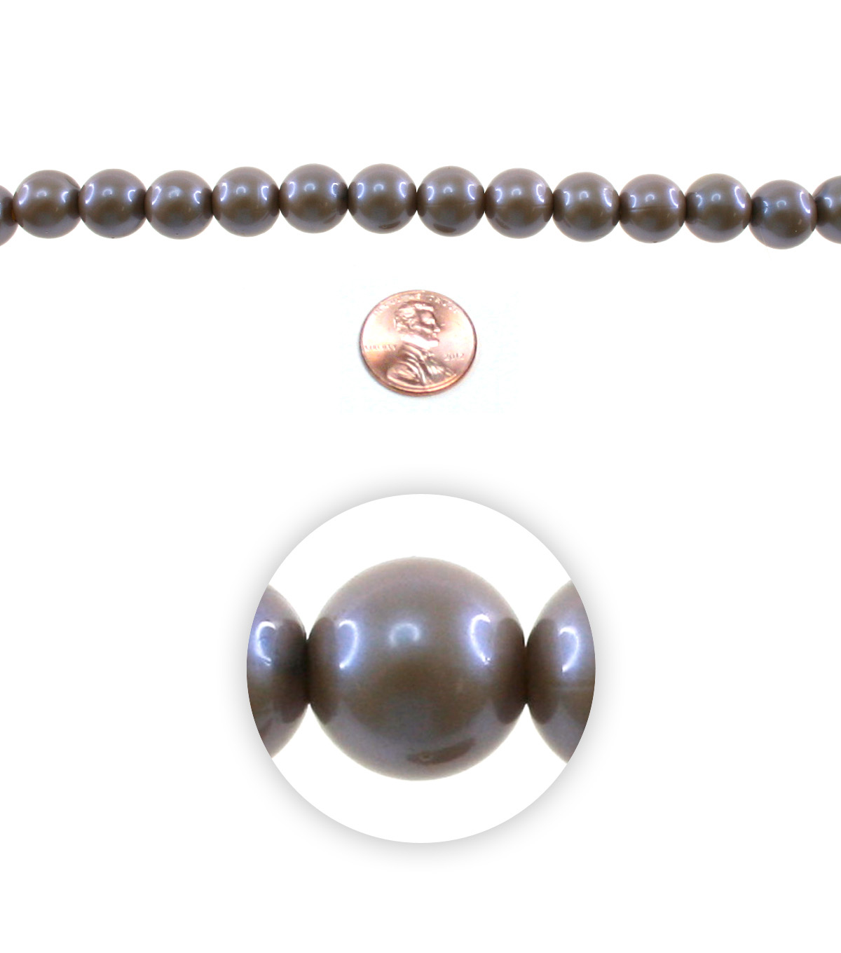 Advantus/Sulyn 7 in Prairie Pearlescent 12mm Bead Strand, Dusted Plum