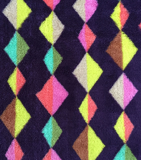 "Ultra Fluffy® Fleece Fabric 58""-Triangle Diamond Stripe"