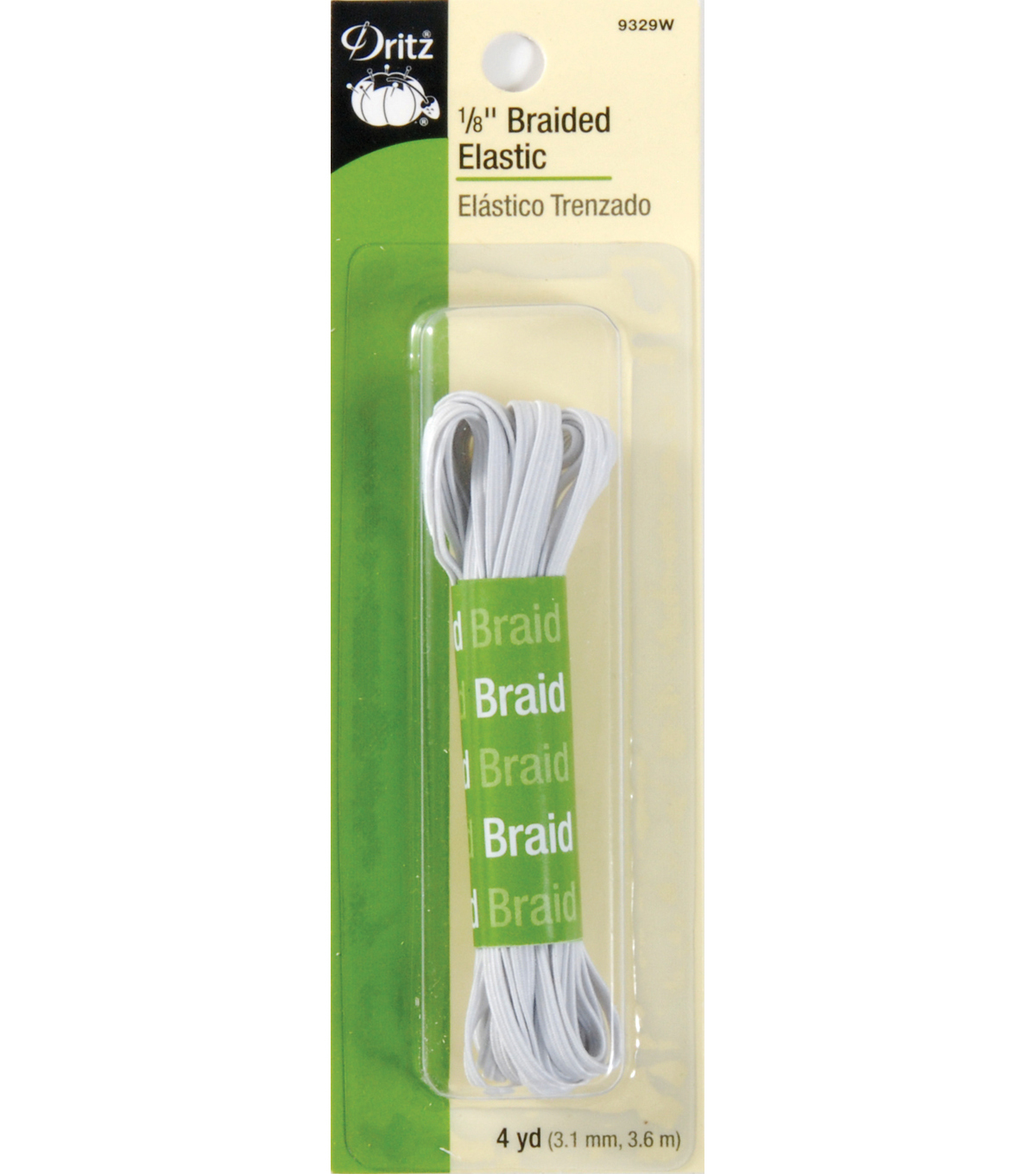 Dritz Braided Elastic 0.13\u0027\u0027 Wide x 4Yds
