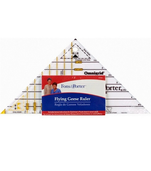 Fons & Porter Super Flying Geese Ruler Triangle