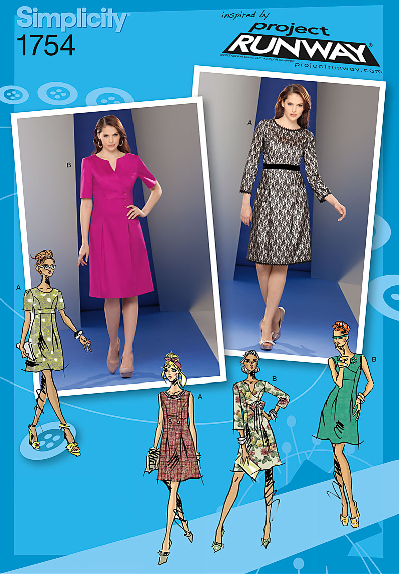 Simplicity Pattern 1754D5 4-6-8-10-1-Simplicity Pattern