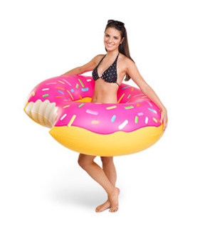 Giant Strawberry Donut Pool Float