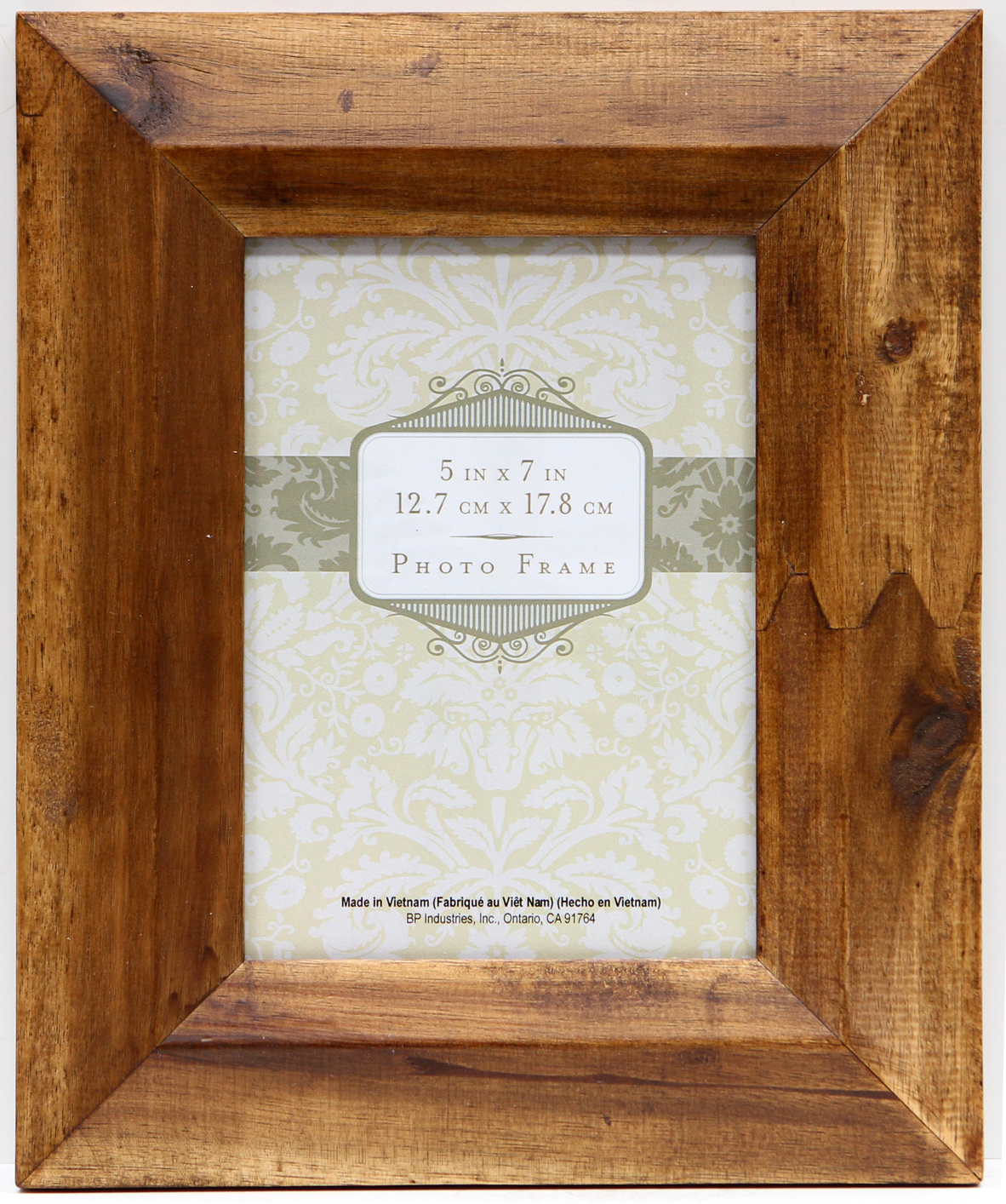 acacia wood frame 5x7 brown wedge - Wood Picture Frames