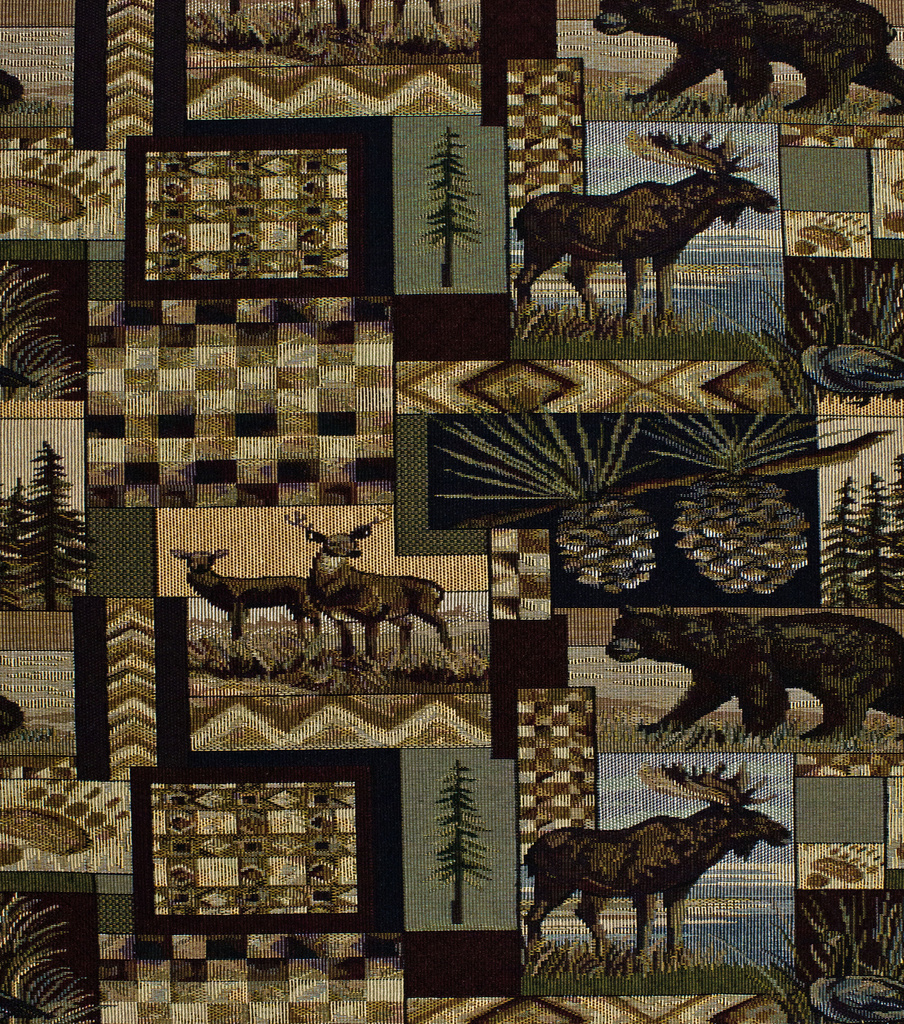 Home Decor Upholstery Fabric-Regal Fabrics Peters Cabin Stone