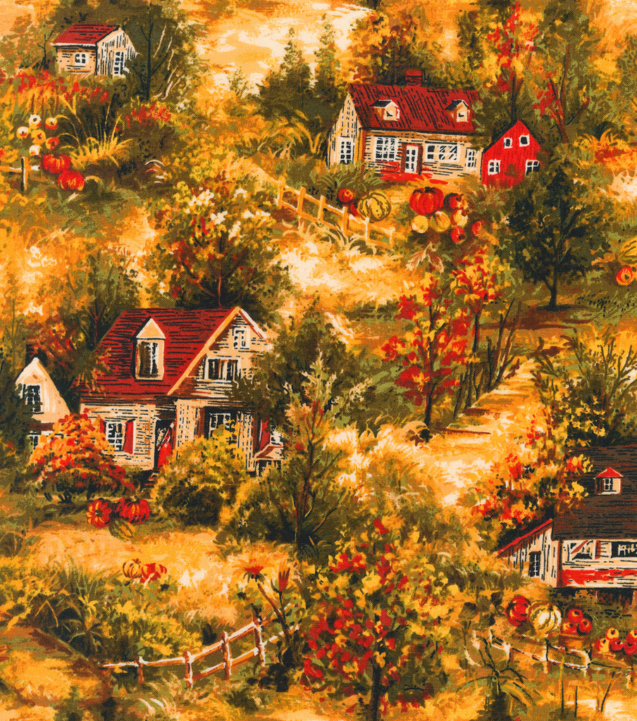Harvest Cotton Fabric 44\u0022-Fall Countryside