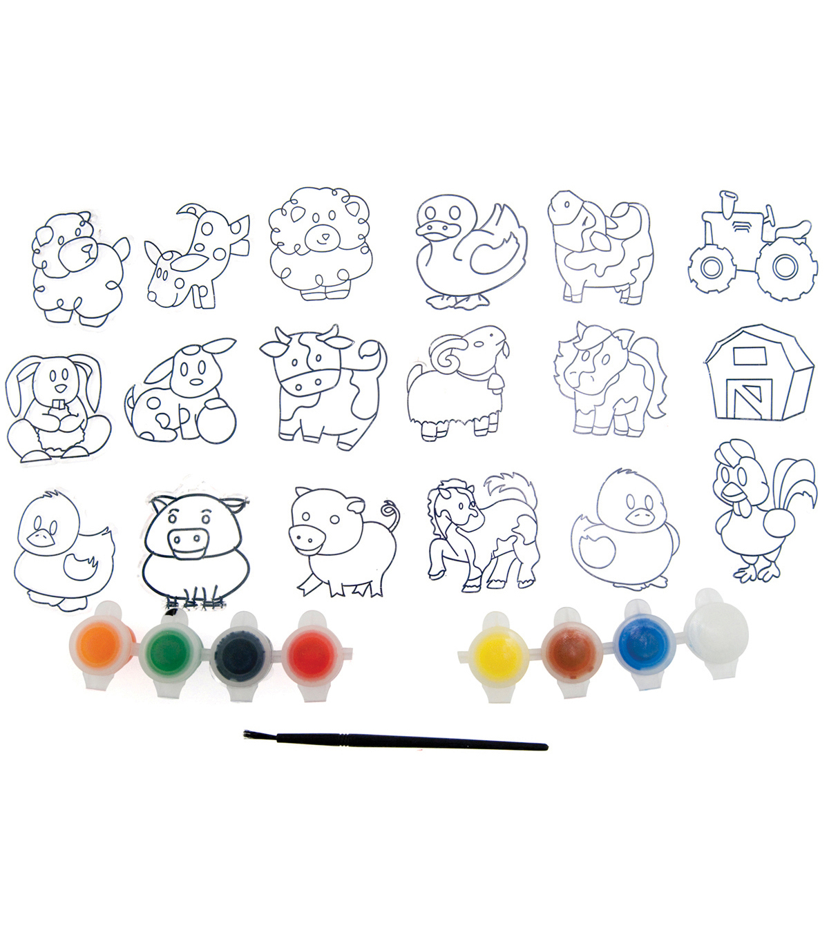 Kelly\u0027s Crafts Suncatcher Group Activity Kit-Farm 18/Pkg