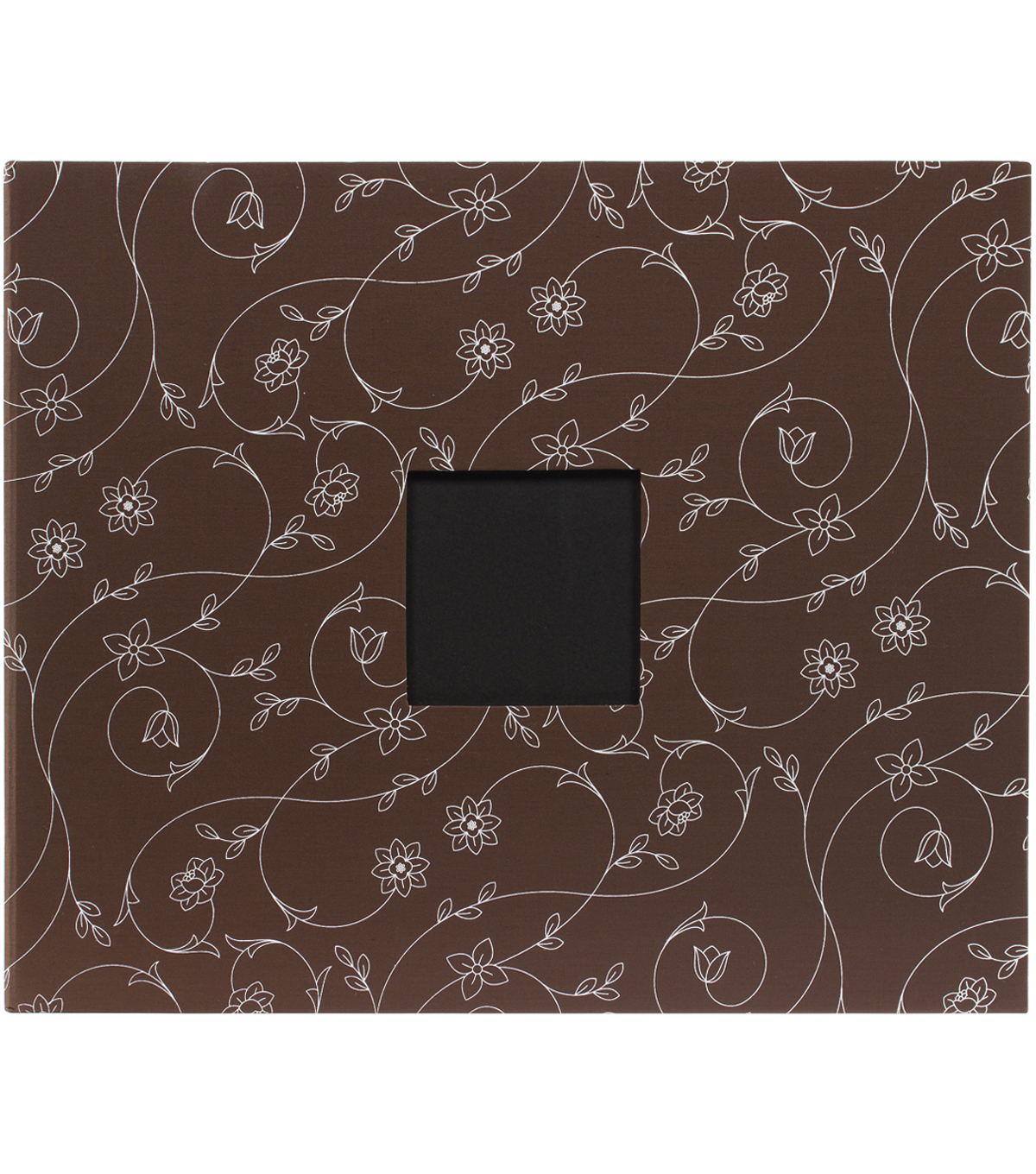 "American Crafts Patterned D-Ring Album 12""X12""-Chestnut Vines"