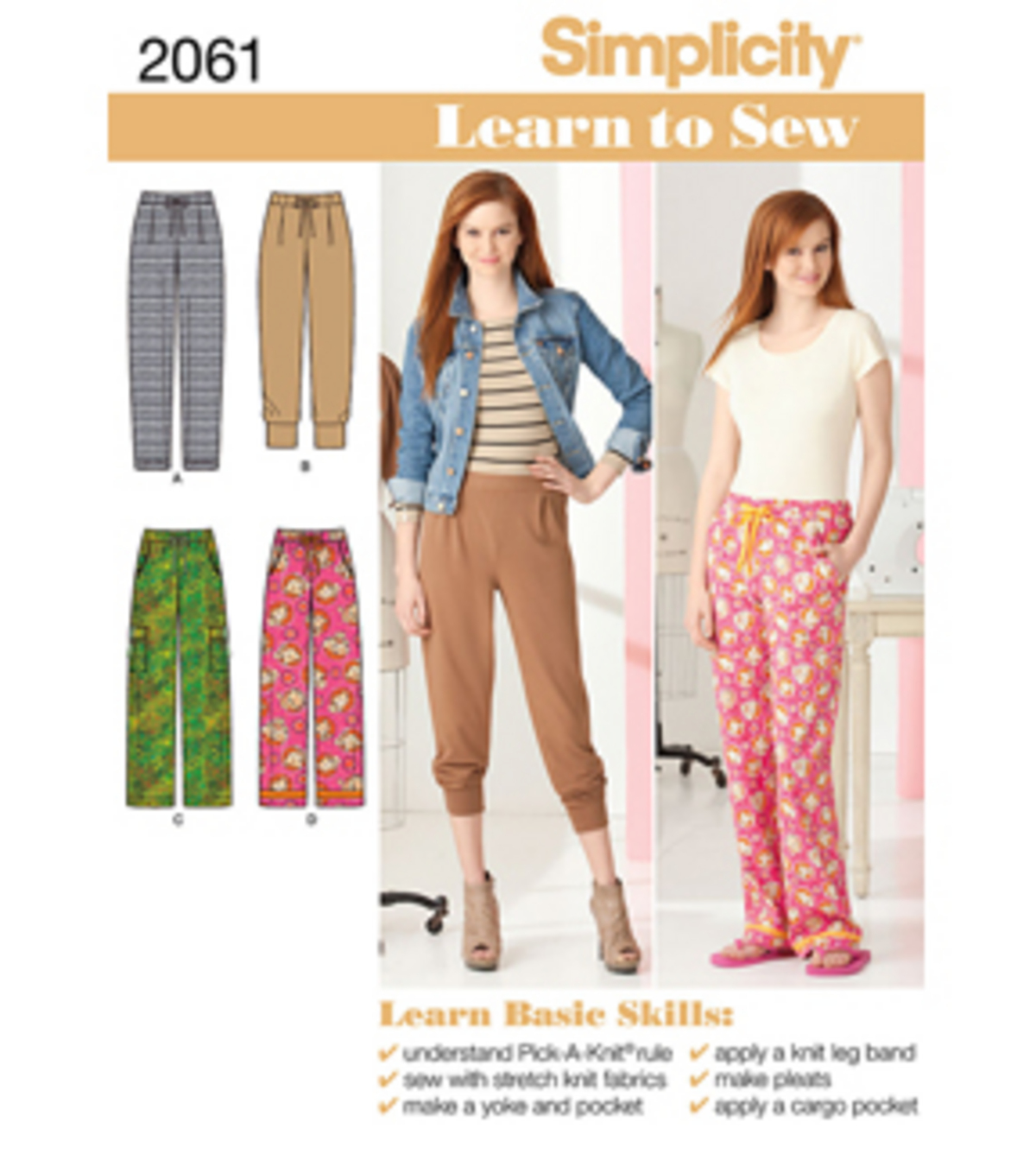 Simplicity Pattern 2061A 6-8-10-12--Simplicity Learn To