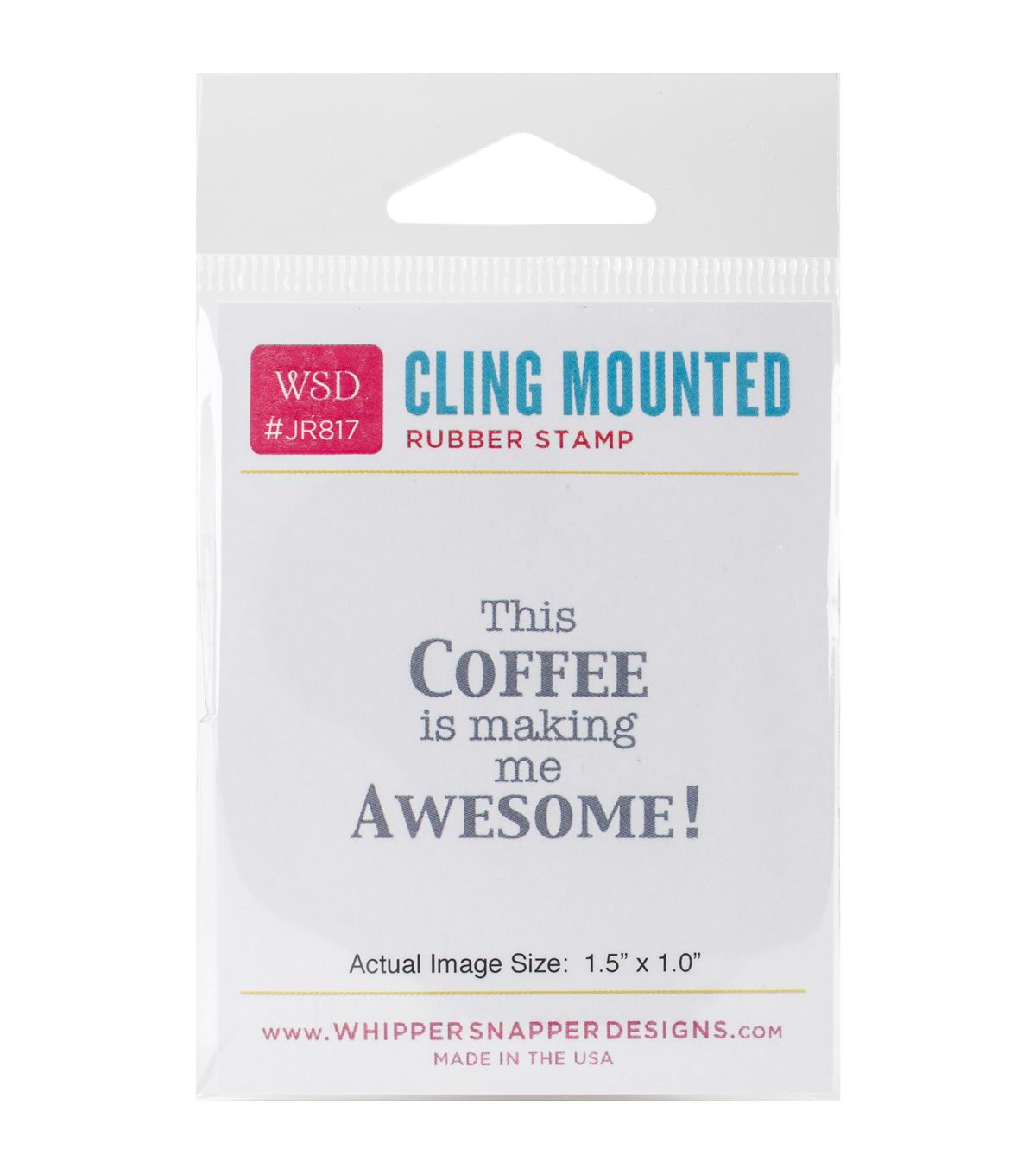 Whipper Snapper Designs Cling Stamp-This Coffee