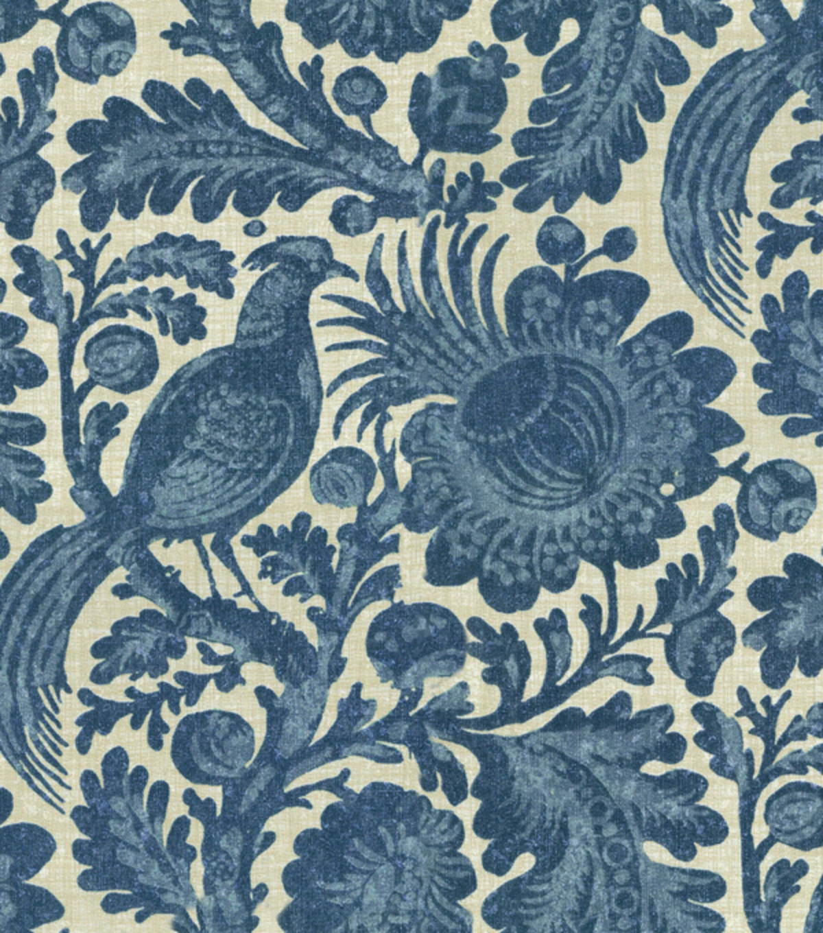 Waverly Sun N Shade Upholstery Fabric-Tucker Resist Chambray