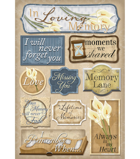 Karen Foster Stickers-In Loving Memory