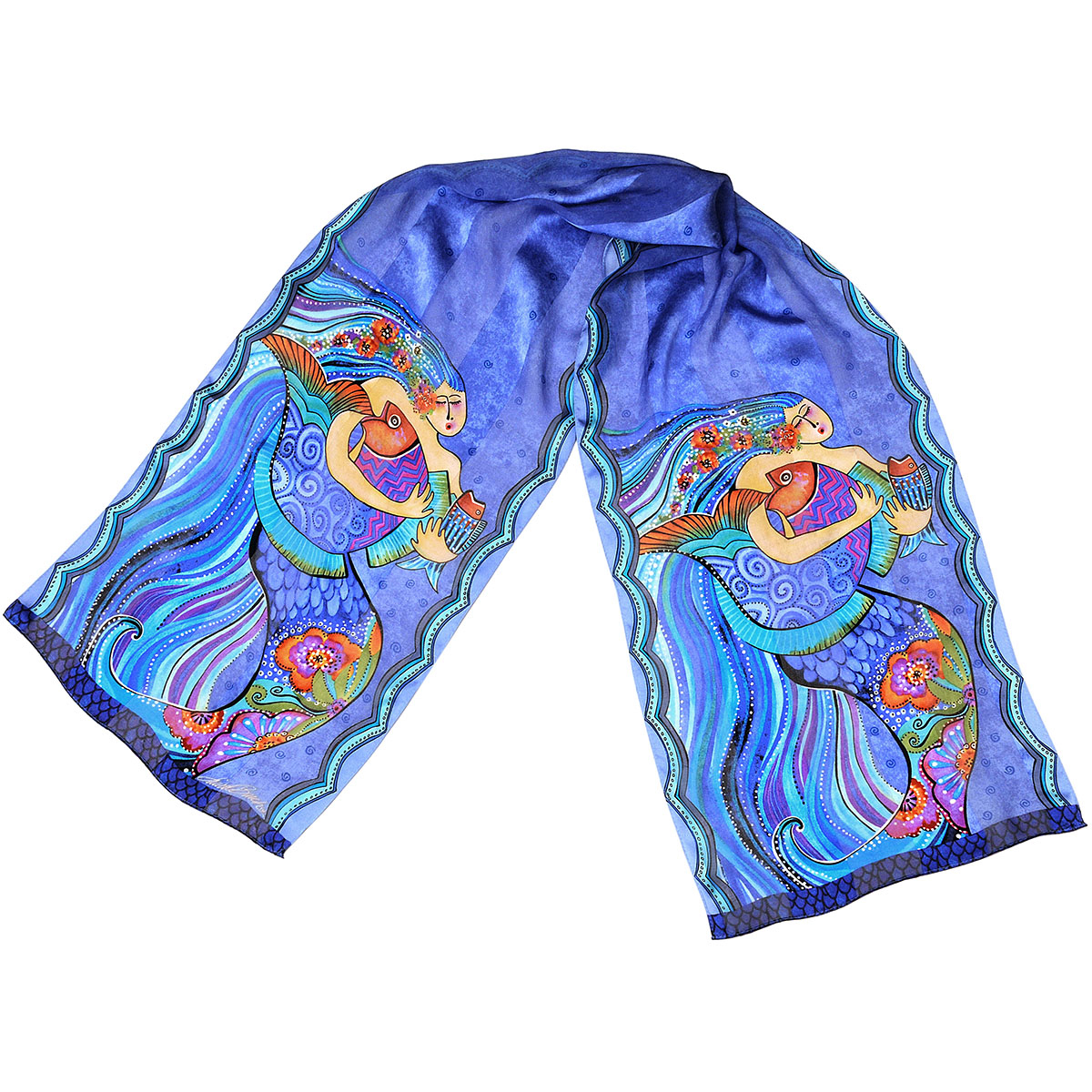 Laurel Burch Scarves-Sea Dreams