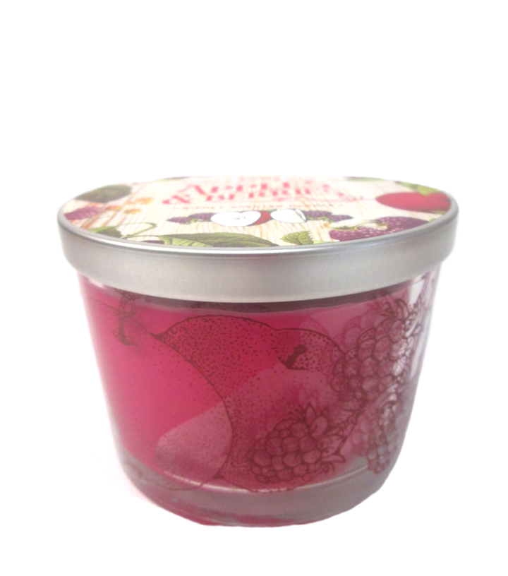 Printed Dish Candle 12Oz Red
