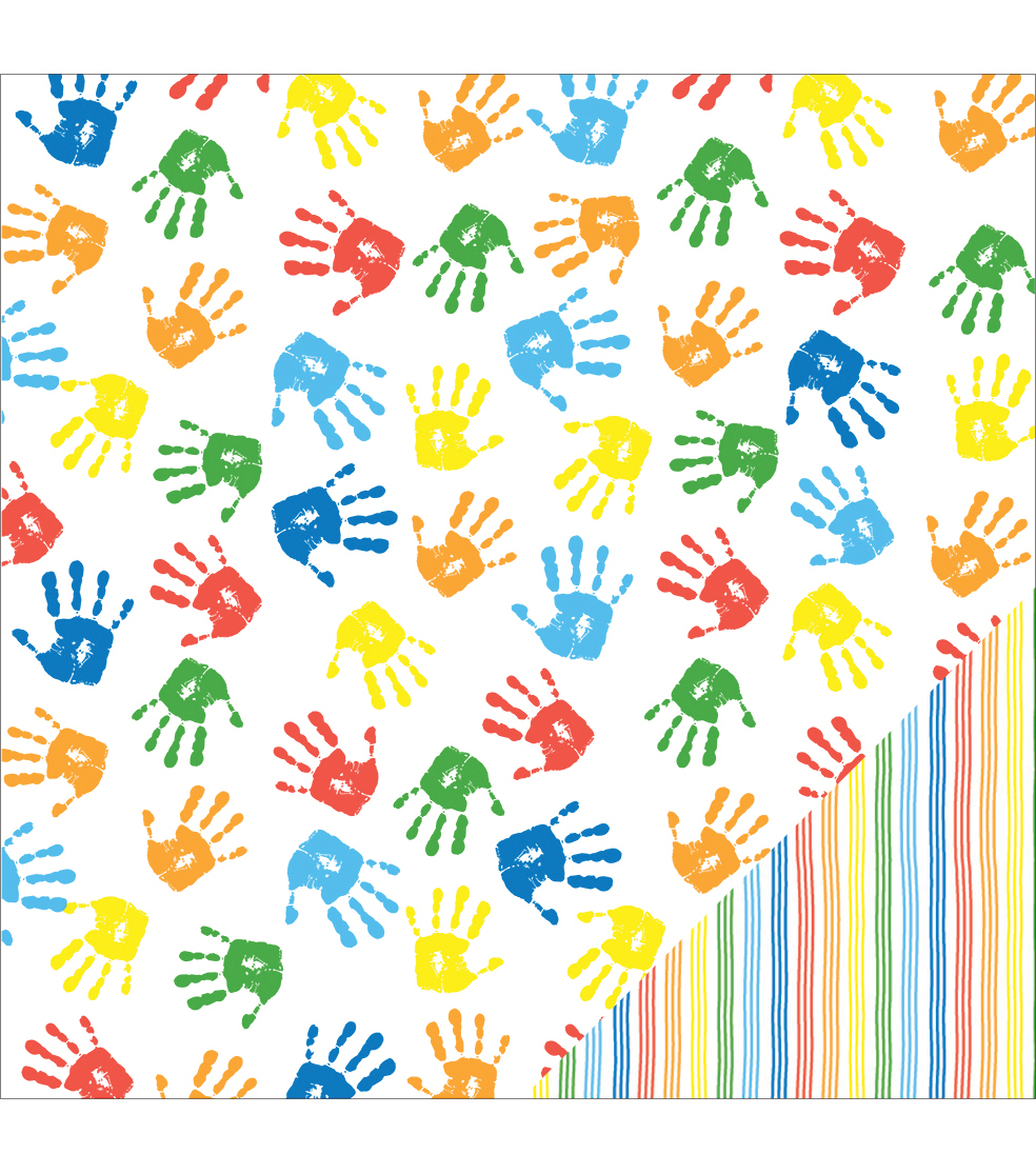 American Crafts School Handprints Double-Sided Cardstock