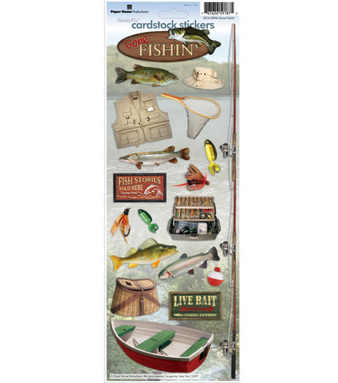 Paper House Cardstock Stickers-Gone Fishing