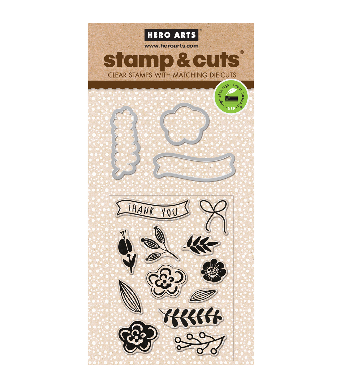 Hero Arts® Stamp & Cuts-Flowers