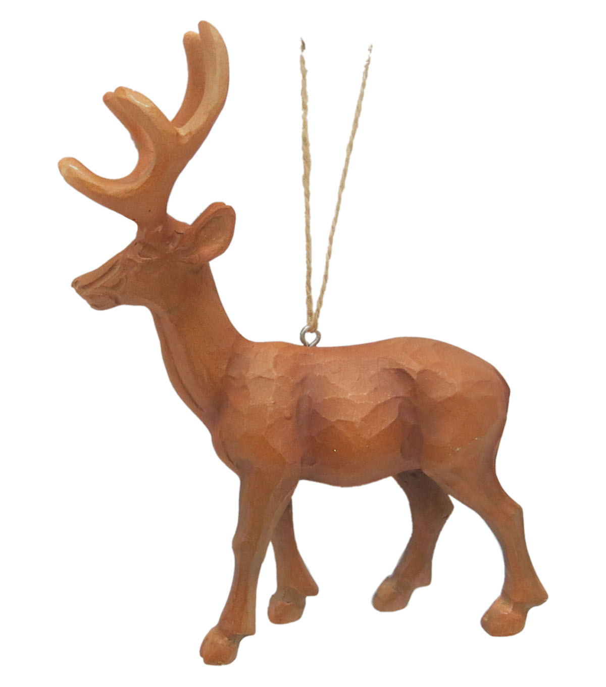 Maker\u0027s Holiday Christmas Woodland Lodge Standing Stag Ornament