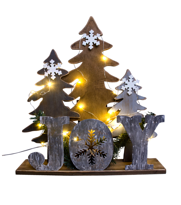 Maker\u0027s Holiday Tree Scene LED Table Decor