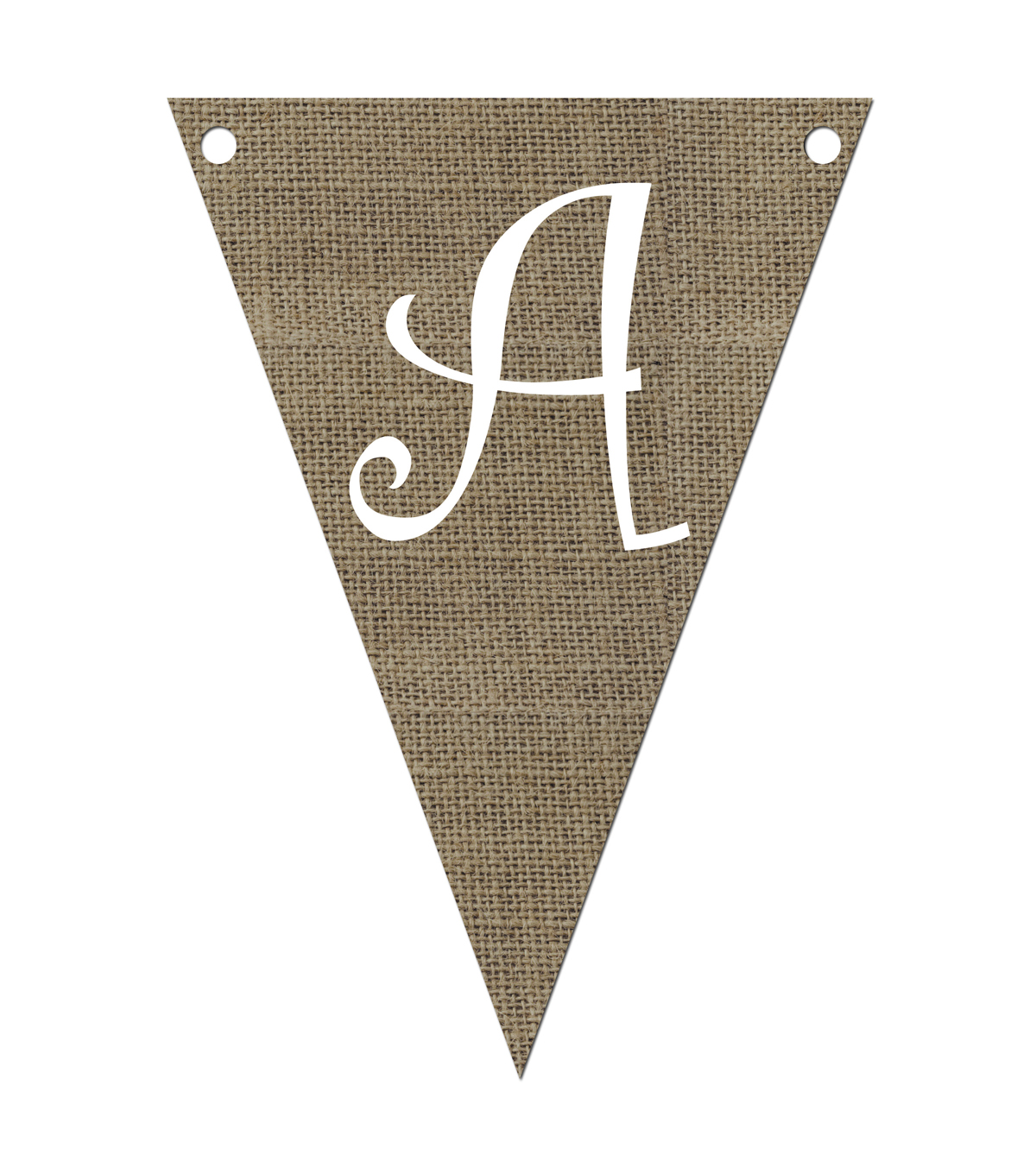 Burlap Triangle-Shaped Pennant Letters
