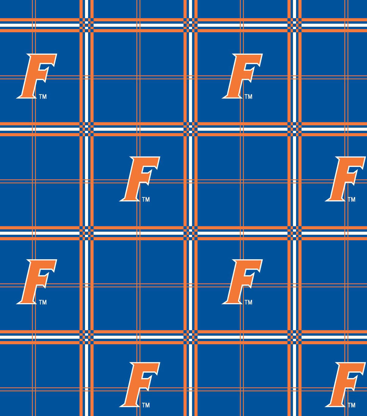 University of Florida Gators Flannel Fabric 42\u0022-Plaid