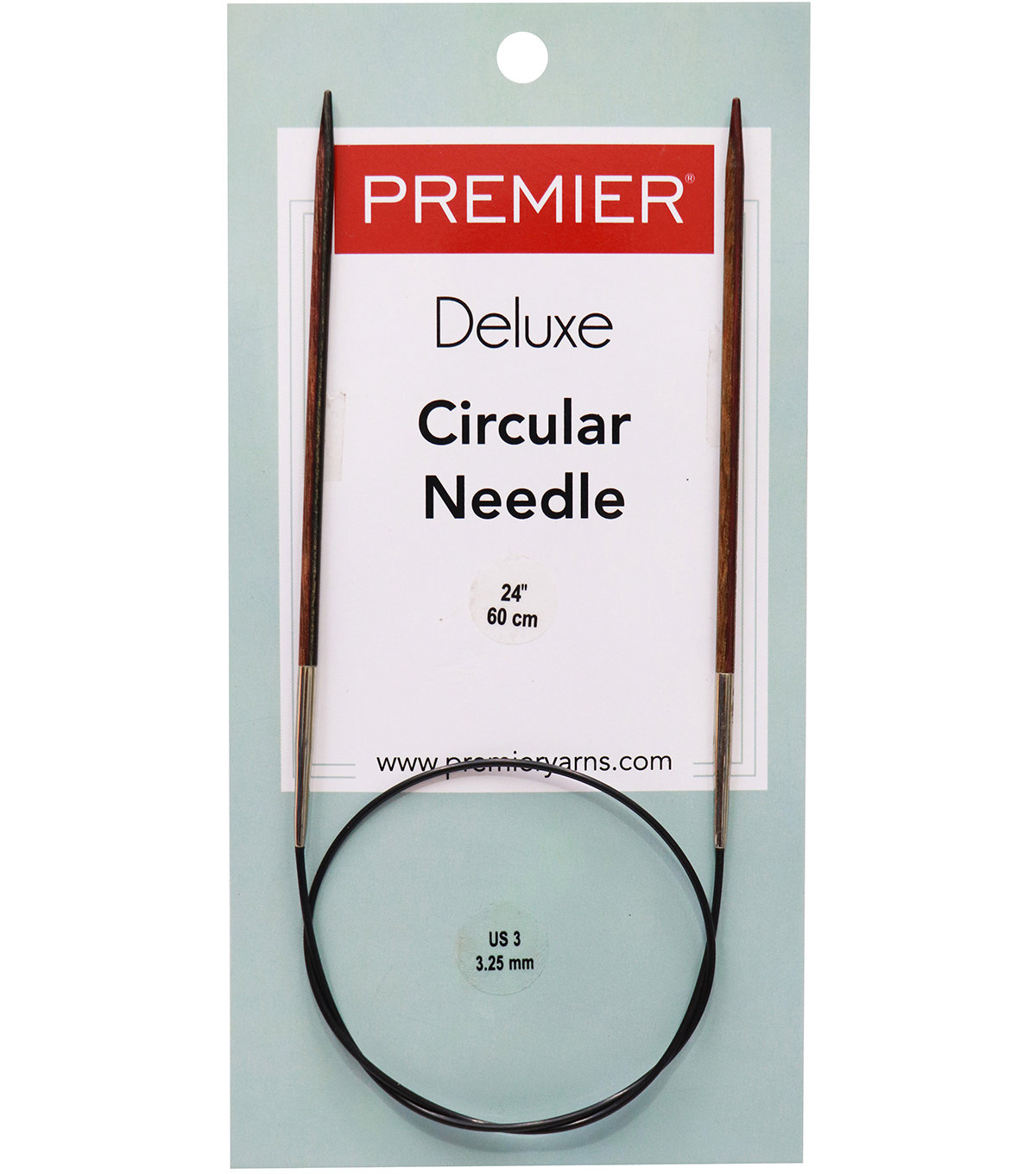 Deborah Norville Fixed Circular Needles 24\u0022 Size 3/3.25mm