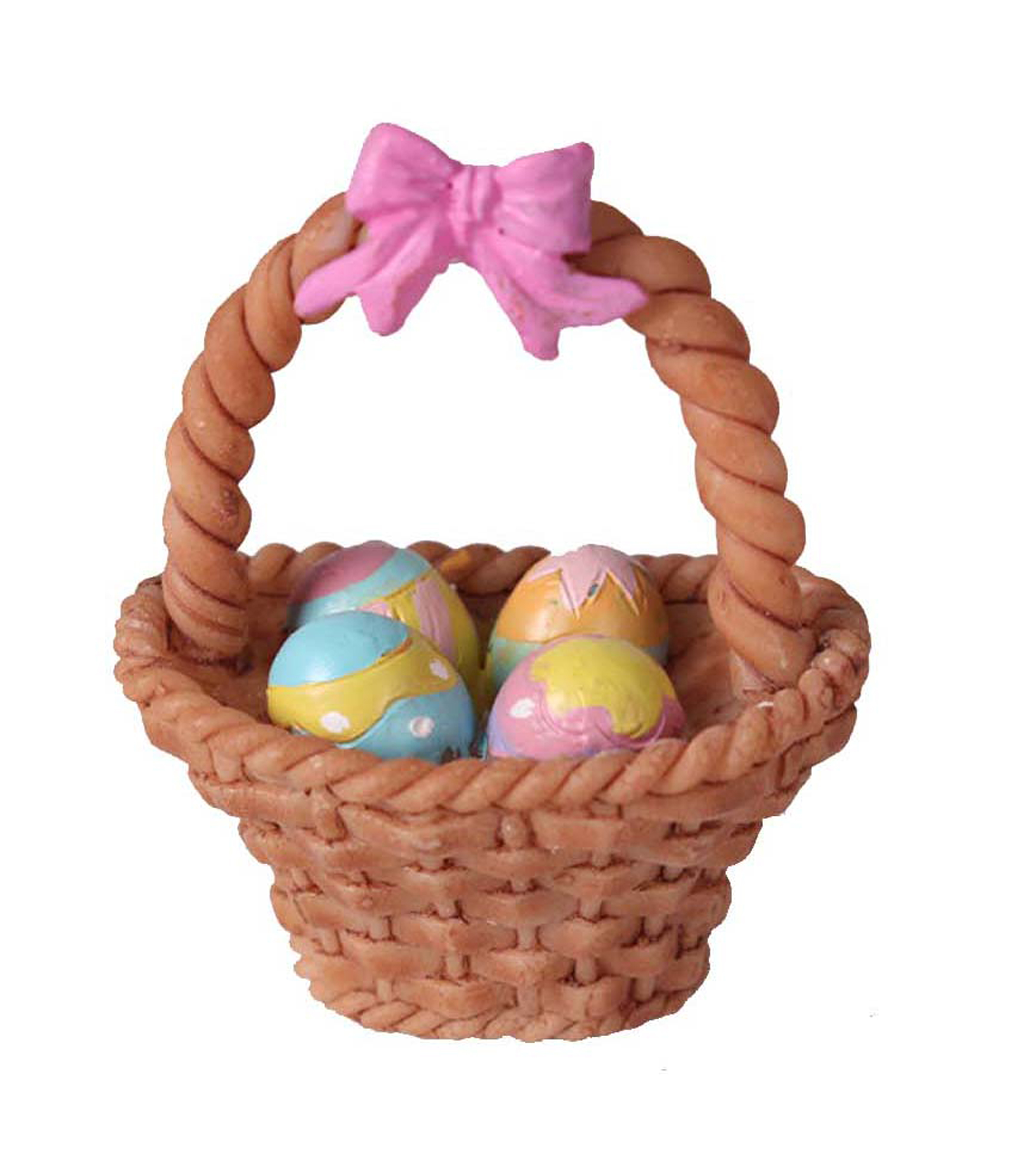 Littles Resin Easter Basket With Eggs