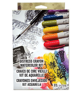 Tim Holtz® Distress 21 Pack Crayon Watercolor Kit