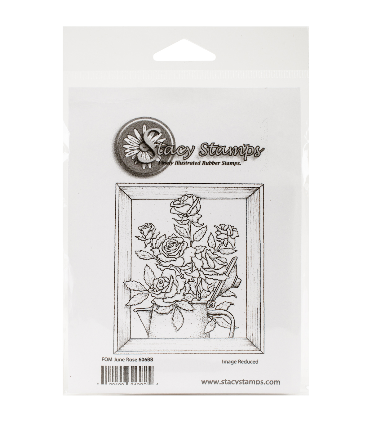 Stacy Stamps Cling Mounted Stamps-Rose