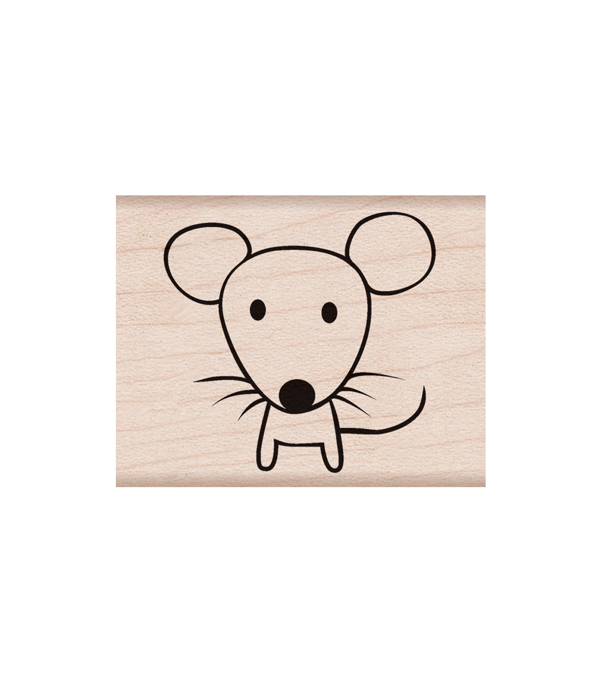 Hero Arts® Wood Mounted Rubber Stamp-Mouse
