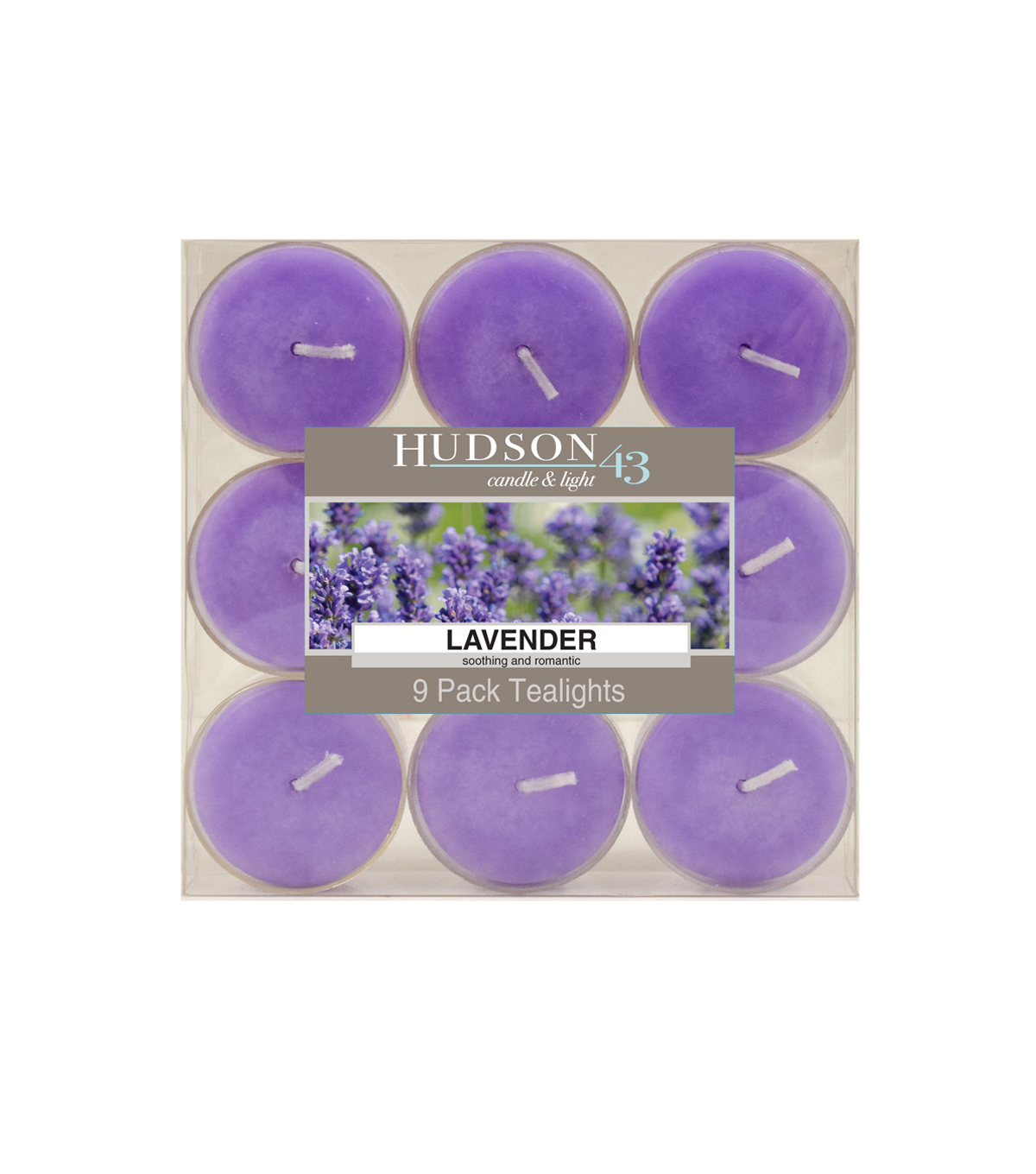 Hudson 43™ Candle & Light Collection 9 Pack Tealights Lavender