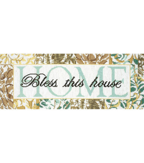 Tobin-Bless This House Counted Cross Stitch Kit-7 X18  14 Count