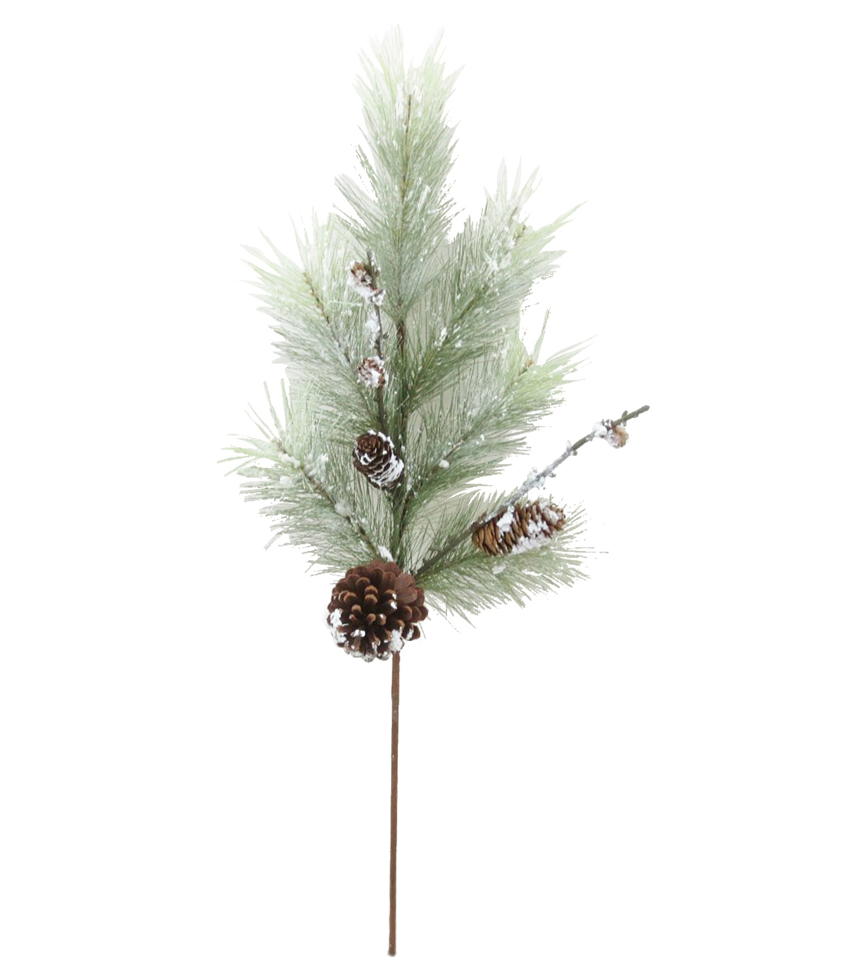 Blooming Holiday Pine & Pinecone Spray-Green & White