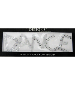 Mark Richards Designs 2''x7'' Rhinestone Iron On-Dance