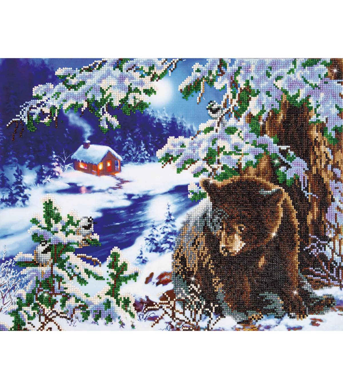 "Diamond Embroidery Facet Art Kit 23.5""X19.5""-Rambling Bear"