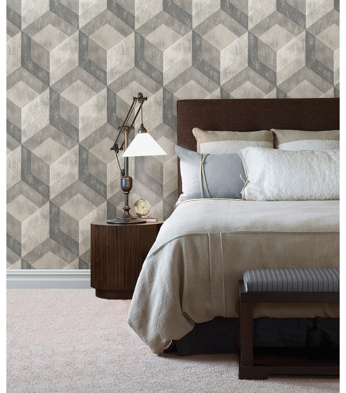 WallPops® NuWallpaper™ Bauhaus Weathered Wood Peel and Stick Wallpaper