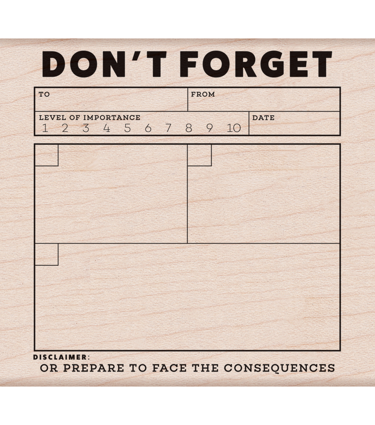 Hero Arts® Kelly Purkey Mounted Rubber Stamp-Don\u0027t Forget
