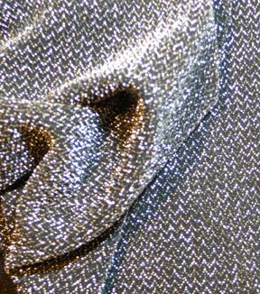 Casa Embellish Knit Fabric 58\u0022-Metallic Black/Silver