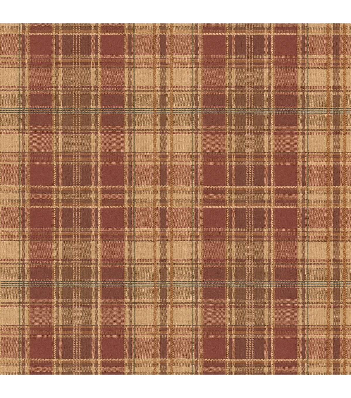Brown Plaid Wallpaper: Tartan Wool Brick Plaid Wallpaper