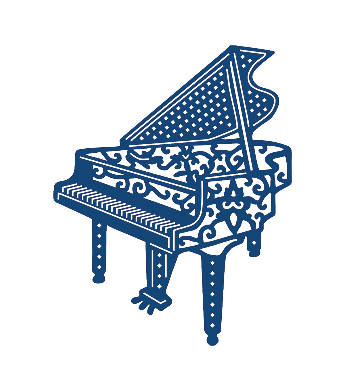 Tattered Lace Metal Die-Piano